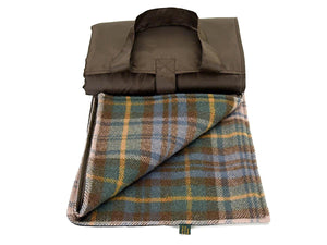 Tartan Waterproof Eventer Picnic Blanket - Antique Dress Gordon