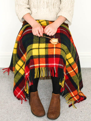 Tartan Pure New Wool Blanket - Buchanan