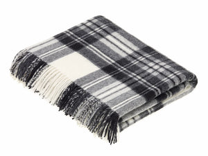 Tartan Merino Lambswool Blanket - Dress Grey Stewart