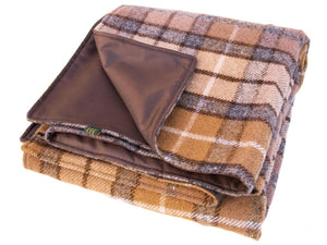 Tartan Waterproof Eventer Picnic Blanket - Natural Buchanan