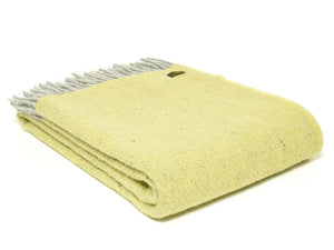 Boa Pure New Wool Throw - Lemon Yellow
