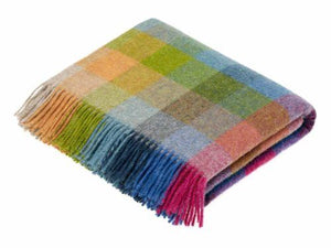 Harlequin Check Pure New Wool Throw - Tutti Frutti