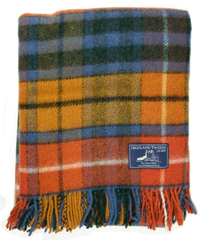 Tartan Pure New Wool Blanket - Antique Buchanan