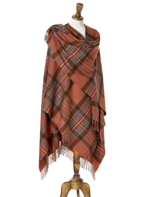 Tartan Lambswool Shawl - Antique Royal Stewart