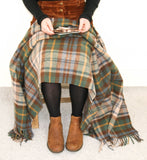 Tartan Pure New Wool Blanket - Antique Dress Gordon