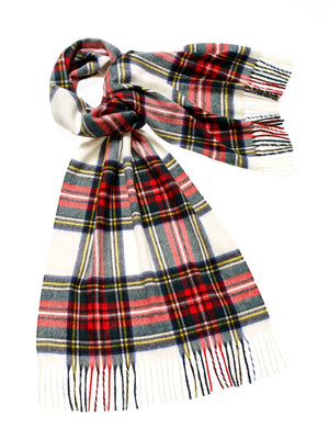 Tartan Lambswool Scarf - Dress Stewart
