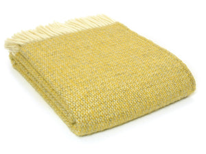 Illusion Pure New Wool Throw - Yellow