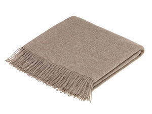 Alpaca Wool Throw - Natural Brown
