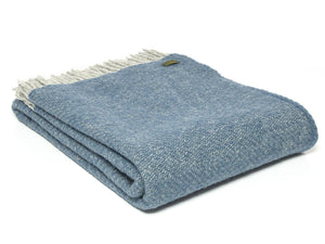 Boa Pure New Wool Throw - Ink Blue