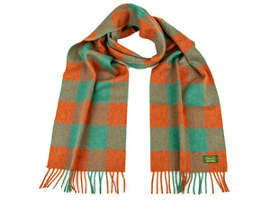 Check Cashmere Scarf - Autumn Check
