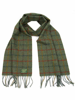 Plaid Lambswool Scarf - Green