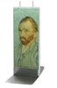 Flatyz Handmade Twin Wick Unscented Thin Flat Candle - Van Gogh Self Portrait