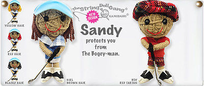 Kamibashi Sandy Golfer Girl The Original String Doll Gang Keychain Clip