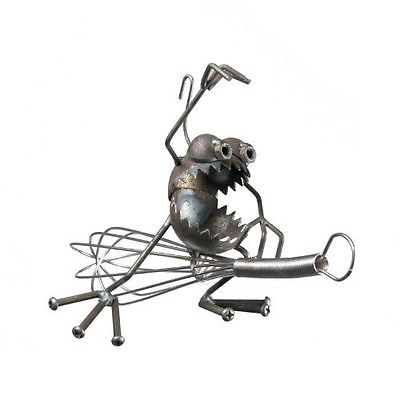 Sugarpost Gnome Be Gone Kitchen Witch Welded Metal Art #1012