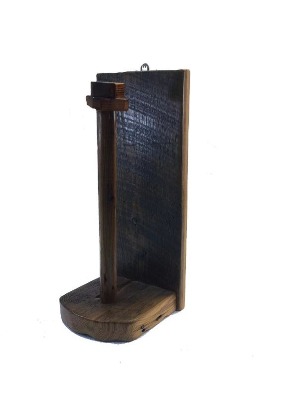 ANR Rustic Reclaimed Barn wood Paper Towel Holder