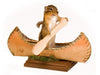 Canoeing Chipmunk Professional Taxidermy Mounted Animal Statue Home Gift
