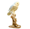 Seated Faux Snow Owl Professional Reproduction Taxidermy Animal Statue