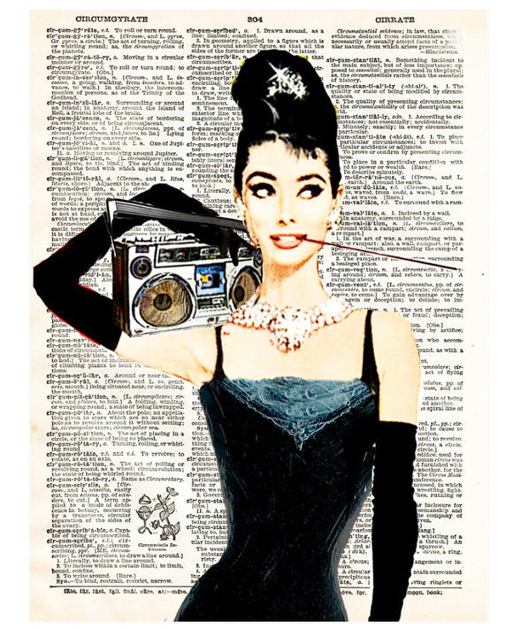 Art N Wordz Audrey's Beats Dictionary Page Pop Art Wall Desk Art Print Poster