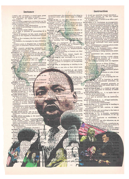 Art N Wordz MLK Martin Luther King Jr Dictionary Page Pop Art Wall Desk Art Print Poster