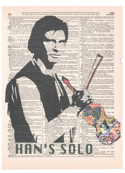 Art N Wordz Striped Han's Solo Violin Page Pop Art Wall Desk Art Print Poster