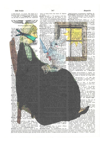 Art N Wordz Bad Hare Day Bunny Kidnap Dictionary Page Pop Art Wall Desk Art Print Poster