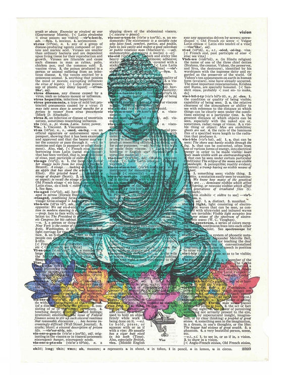 Art N Wordz Buddha Flowers Dictionary Page Pop Art Wall Desk Art Print Poster