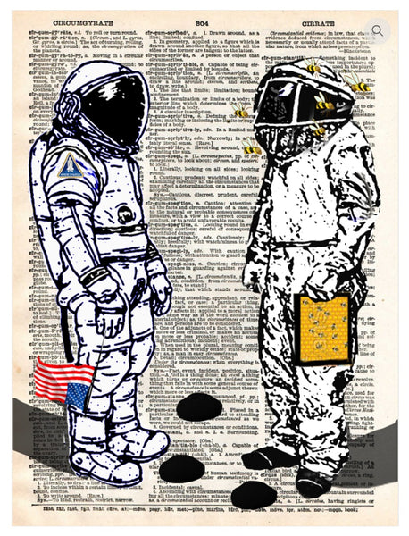 Art N Wordz Bee Humankind Astronaut Dictionary Page Pop Art Wall or Desk Art Print Poster