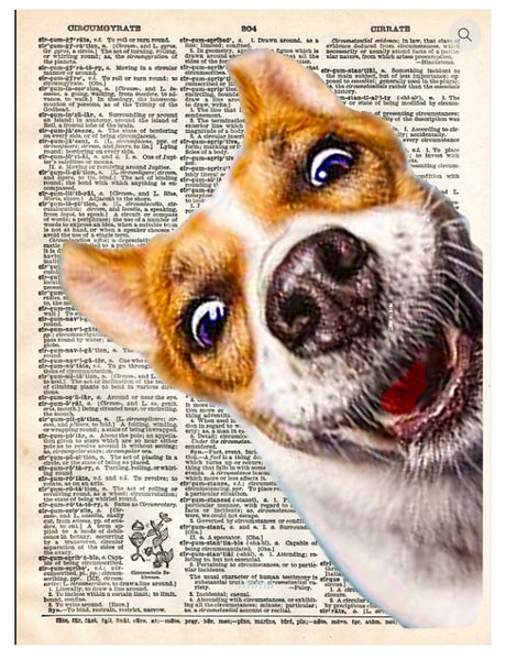 Art N Wordz Woof Dog Dictionary Page Pop Art Wall or Desk Art Print Poster