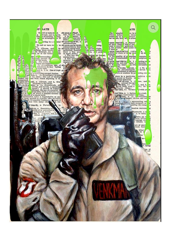 Art N Wordz Ghostbuster Slim Original Dictionary Page Pop Art Print Poster