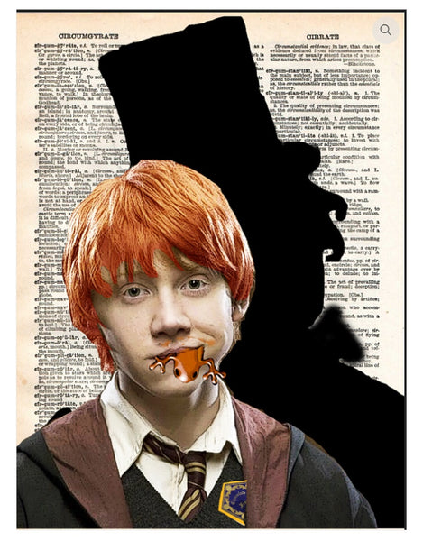 Art N Wordz Ron Weasley Wonka Shadow Dictionary Page Pop Art Wall or Desk Art Print Poster