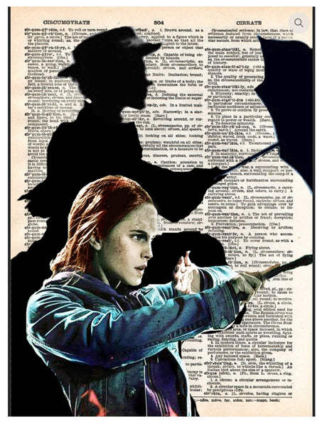 Art N Wordz Hermione Mary Poppins Shadow Dictionary Page Pop Art Wall or Desk Art Print Poster