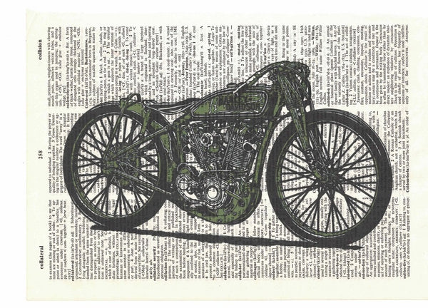 Art N Wordz Harley Motorcycle Dictionary Page Pop Art Wall or Desk Art Print Poster