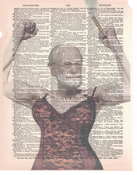 Art N Wordz Sigmund Freud Freudian Slip Original Dictionary Page Pop Art Print Poster