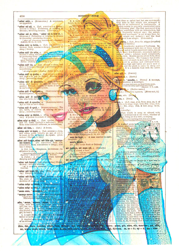 Art N Wordz Cinderella Ghost Original Dictionary Sheet Pop Art Wall or Desk Art Print Poster