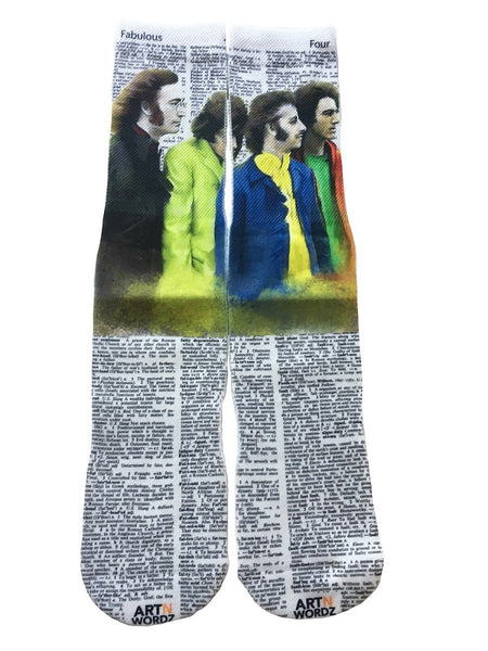 Artnwordz Apparel The Beatles JPGR Dictionary Pop Art Unisex Socks