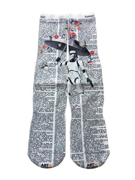 Art N Wordz Apparel Star Wars Storm Trooper Umbrella Dictionary Pop Art Unisex Socks