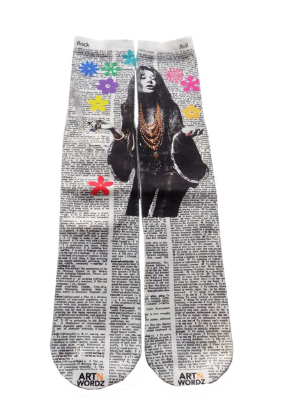 Artnwordz Apparel Janice Joplin Dictionary Pop Art Unisex Socks
