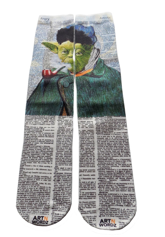 Artnwordz Apparel Van Yo Yoda Van Gogh Dictionary Pop Art Unisex Socks