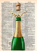 Art N Wordz Champagne Pop Original Dictionary Sheet Pop Art Wall or Desk Art Print Poster