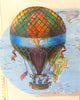 Art N Wordz Colorful Air Balloon Original Atlas Sheet Wall Pop Art Print