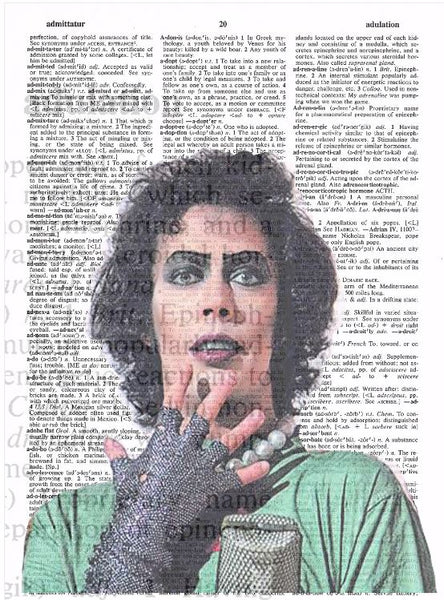 Art N Wordz Rocky Horror Picture Show Frankfurter Green Original Dictionary Sheet Pop Art Wall or Desk Art Print Poster