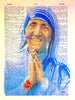 Art N Wordz Free To Be Me Mother Teresa Original Dictionary Sheet Pop Art Wall or Desk Art Print Poster