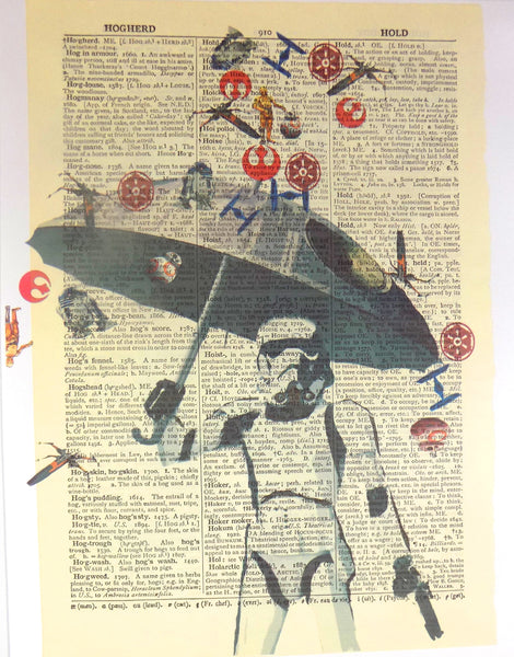 Art N Wordz Star Wars Storm Trooper Umbrella Original Dictionary Sheet Pop Art Wall or Desk Art Print Poster