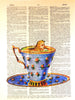 Art N Wordz Alice In Wonderland Teacup Dictionary Sheet Pop Art Wall or Desk Art Print Poster