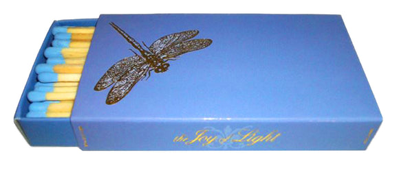 The Joy of Light Designer Matches Dragonfly on Periwinkle Embossed 4
