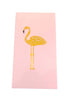 "The Joy of Light Designer Matches Pink Flamingo Gold Foiled and Embossed Matte 4"" Collectible Matchbox"