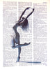 Art N Wordz Beautiful Dancer Standing Original Dictionary Sheet Pop Art Wall or Desk Art Print Poster