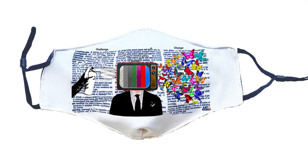 Artnwordz Different View TV Head Man Fashionable Face Mask