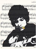 Art N Wordz Bob Dylan Guitar Original Music Sheet Pop Art Wall or Desk Art Print Poster