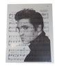 Art N Wordz Elvis Presley Black & White Original Music Sheet Pop Art Wall or Desk Art Print Poster